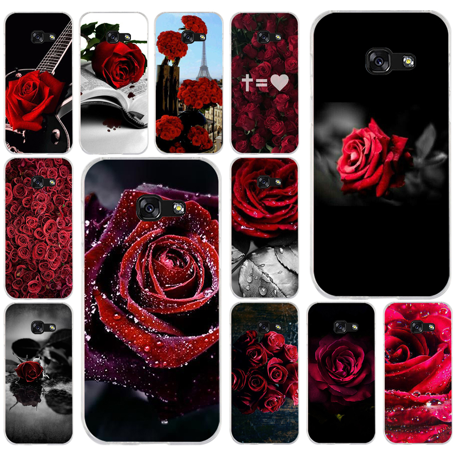 280fg Red Rose Flowers Soft Silicone Tpu Cover Phone Case For Samsung A3 2016 A5 2017 A6 Plus A7 A8 2018 S6 7 8 9 To Be Distributed All Over The World