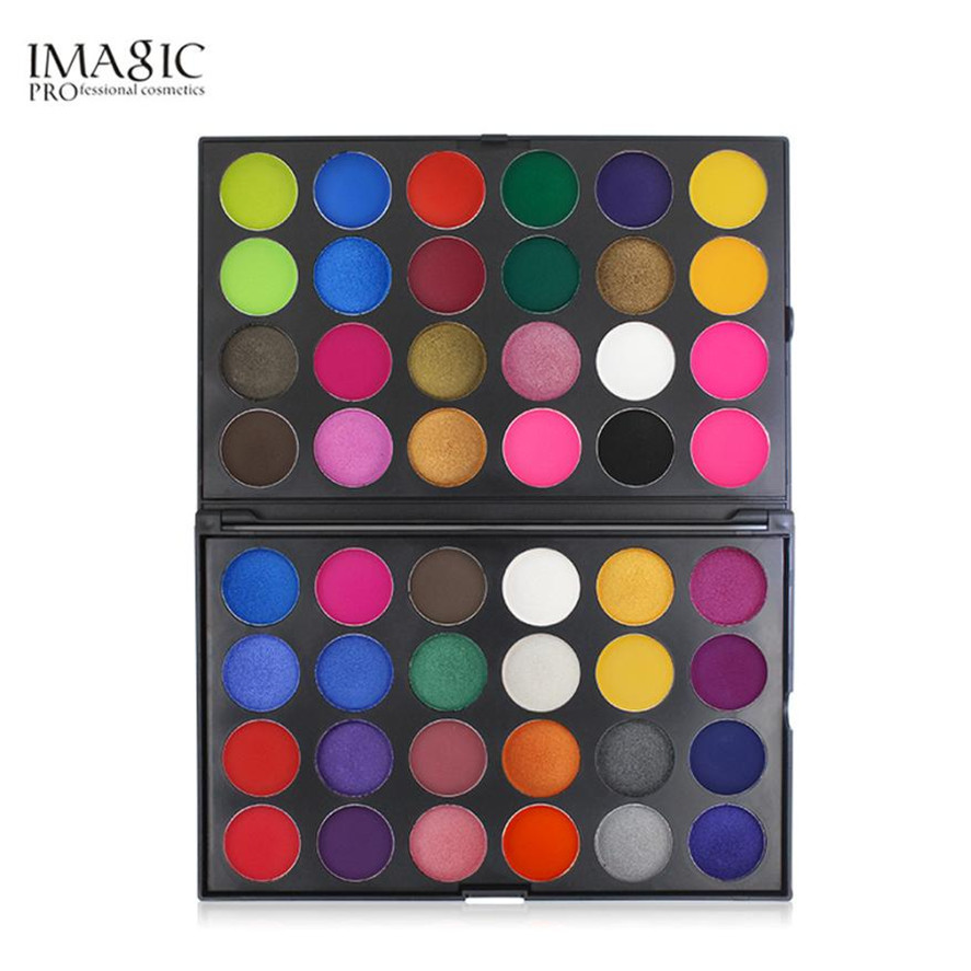 2018 New IMAGIC 1PC 48 Colors Shimmer Glitter Eye Shadow Powder Matte Eyeshadow Cosmetic Women Makeup Matte Eye Shadow Palette цена