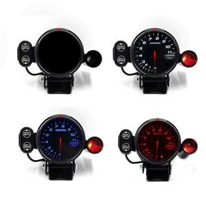 Image 2 - CNSPEED 80mm Racing Car Rpm Tachometer Gauge With Warning light Auto car Gauge/Car Meter/Black Face Tachometer Gauge xs101146