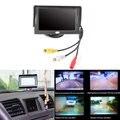4.3 Pulgadas HD Monitor Digital TFT LCD de Visión Trasera Del Coche soporte Espejo Estacionamiento Marcha Atrás Ayuda Con 2 RCA Video Player entrada