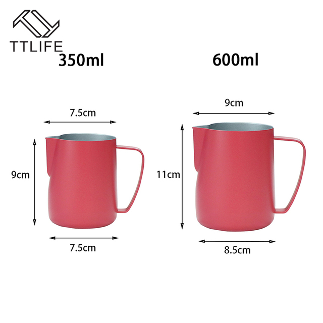 TTLIFE Milk Jug 10-20 OZL Stainless Steel Frothing Pitcher 5