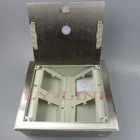Cor prata chão chão tomada tomada para instalar 4 conjunto 86X86 MM placa de parede