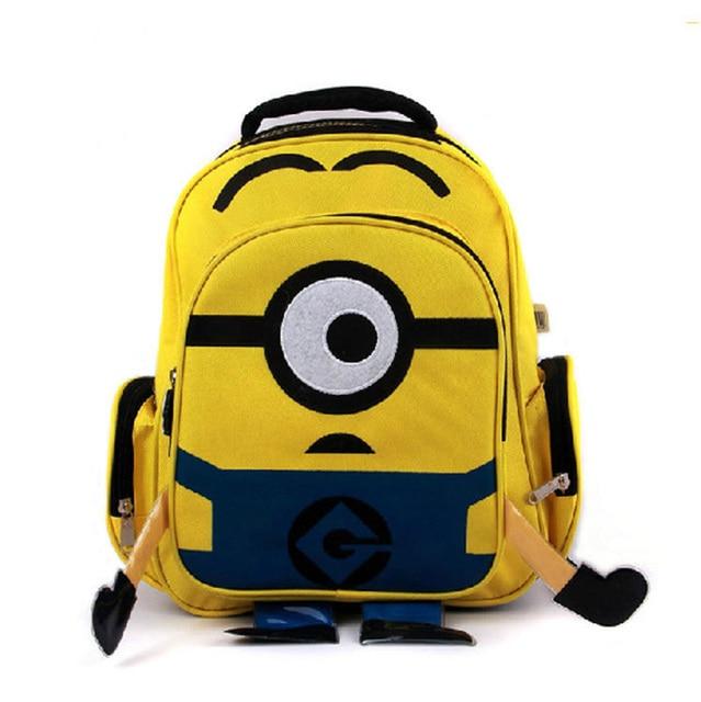 Minion Bags 2017 Backpack Children School For Age Boy Bolsas Mochilas Feminina Cartoon Bag Nylon