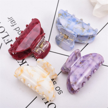 1 PCS Hot Sale Candy Colors Acrylic Hair Claw Clips Korean Style Small Ponytail Hairpin Crab Clamp Barrette 6