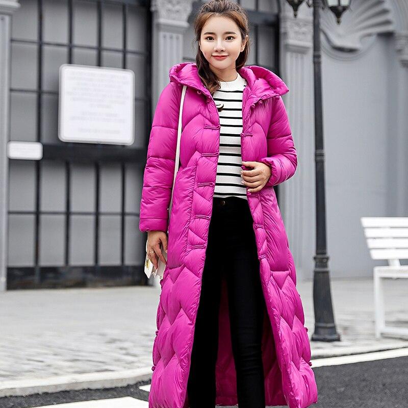 Femmes Lp276 Femelle Veste Chaud Manteau Parka Capuchon Couleurs Le red Vers Black Mince Long Red Vestes 3 Casual purple Coton À Mode Outwear D'hiver Ouatée Bas HH1WArT5