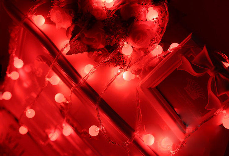LED String Lights Cherry Ball Lamps Plug Battery Powered Holiday Starry Fairy Garland for Bedroom Garden Christmas Wedding Party in LED Strips from Lights Lighting