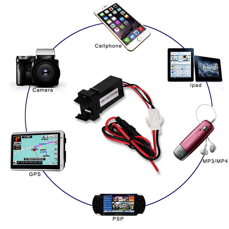 12V 24V podwójna ładowarka samochodowa USB dla TOYOTA 5V 4.2A uniwersalna ładowarka do telefonu komórkowego dla Iphone Sumsang