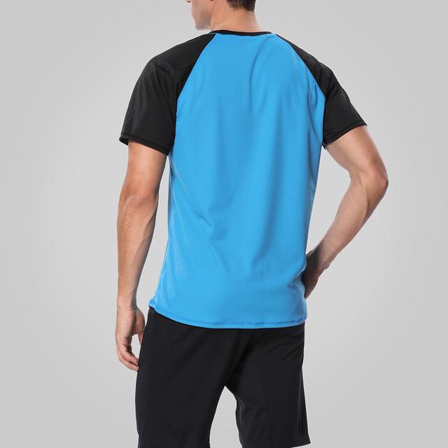 Charmleaks Men Rashguard Swimsuit Surf Shirts Men Diving Swimwear UV-Protection Rash Guard Top UPF 50+ Beach Wear