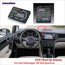 Liandlee Car HUD Head Up Display For Volkswagen VW Golf Sportsvan 2012-2018 Safe Driving Screen OBD Projector Windshield