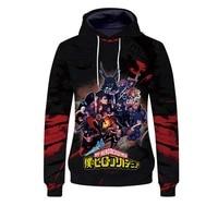 Anime My Hero Academia Cosplay Hoodies Boku no Hero Academia Midoriya Izuku Bakugou Katsuki Todoroki Sweatshirt Jackets Coat