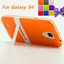 Ultra-thin PC Frame TPU Soft Cover Silicon Case For Samsung Galaxy S4 i9500 Matte Feel Phone Cases For Samsung Galaxy S4