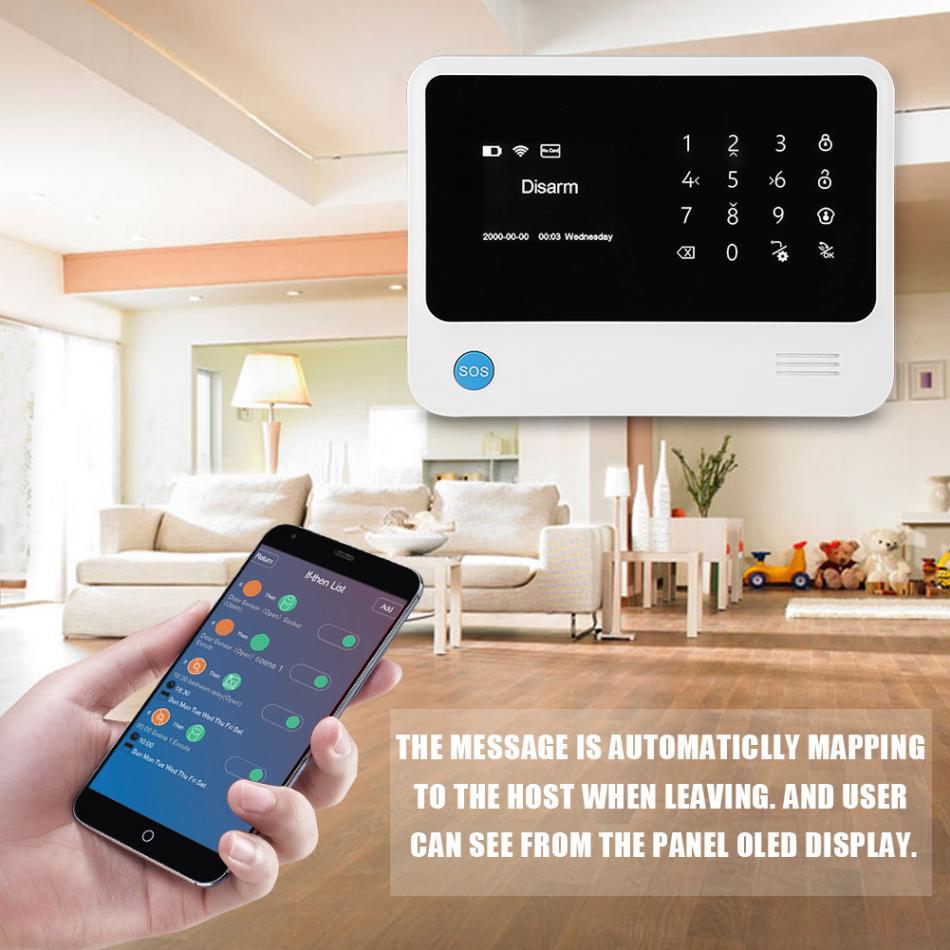 GSM GPRS Wifi Wireless Detector Alarm Home Security System 100-240V EU Plug 433mhz g90b intruder home alarm wireless security gprs gsm wifi alarm system with pir motion sensor wireless smoke detector