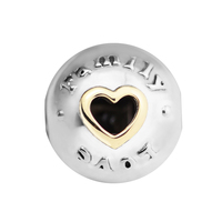 Fits Pandora Bracelet Family & Love Clip charms 925 charms 2017 Mother's Day New Sterling silver jewelry DIY making KJ9851