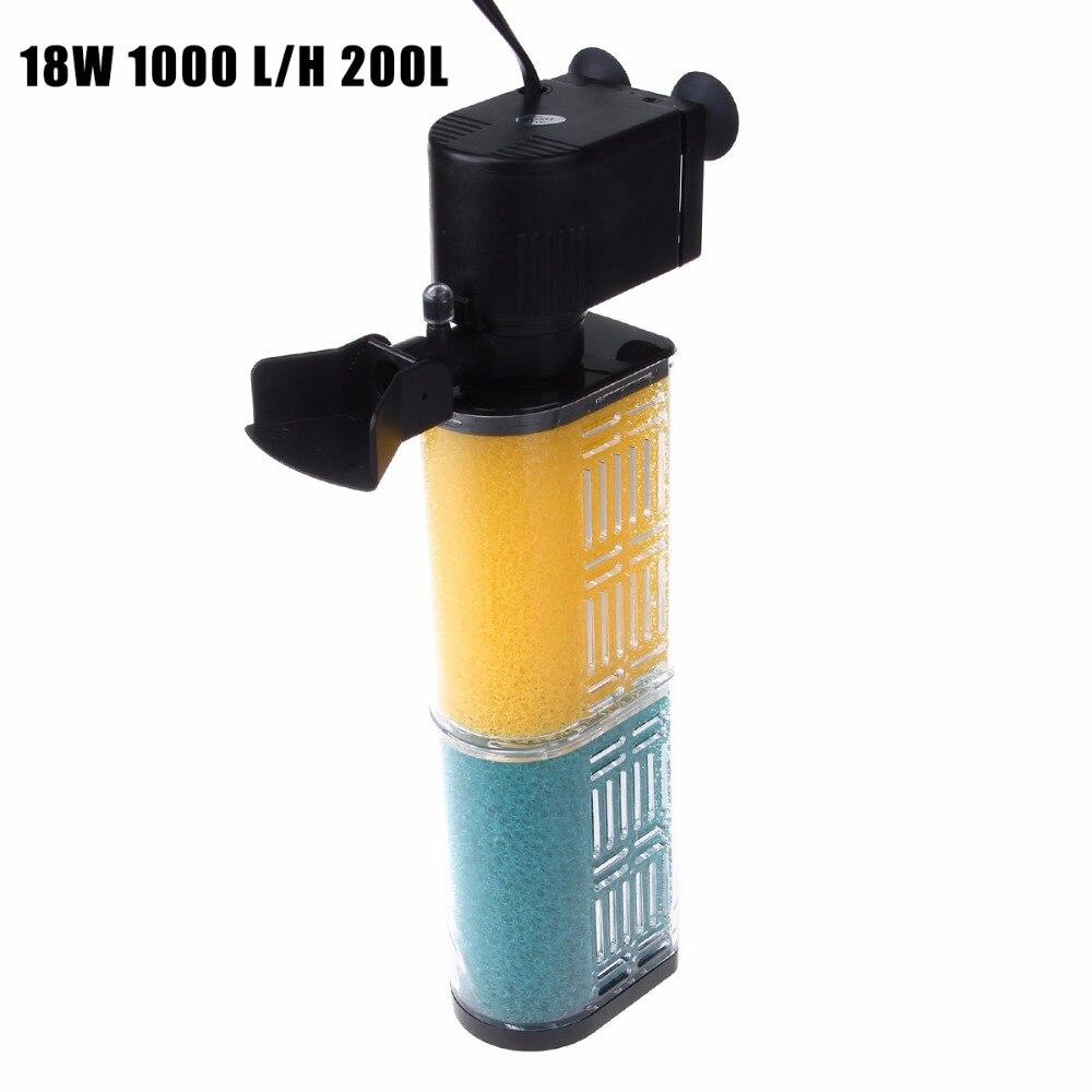 Aquarium external fish tank filter 1000l h - Ap 1350f 18w 1000 L H 200l Biological Aquarium Fish Tank Internal Filter Strainer