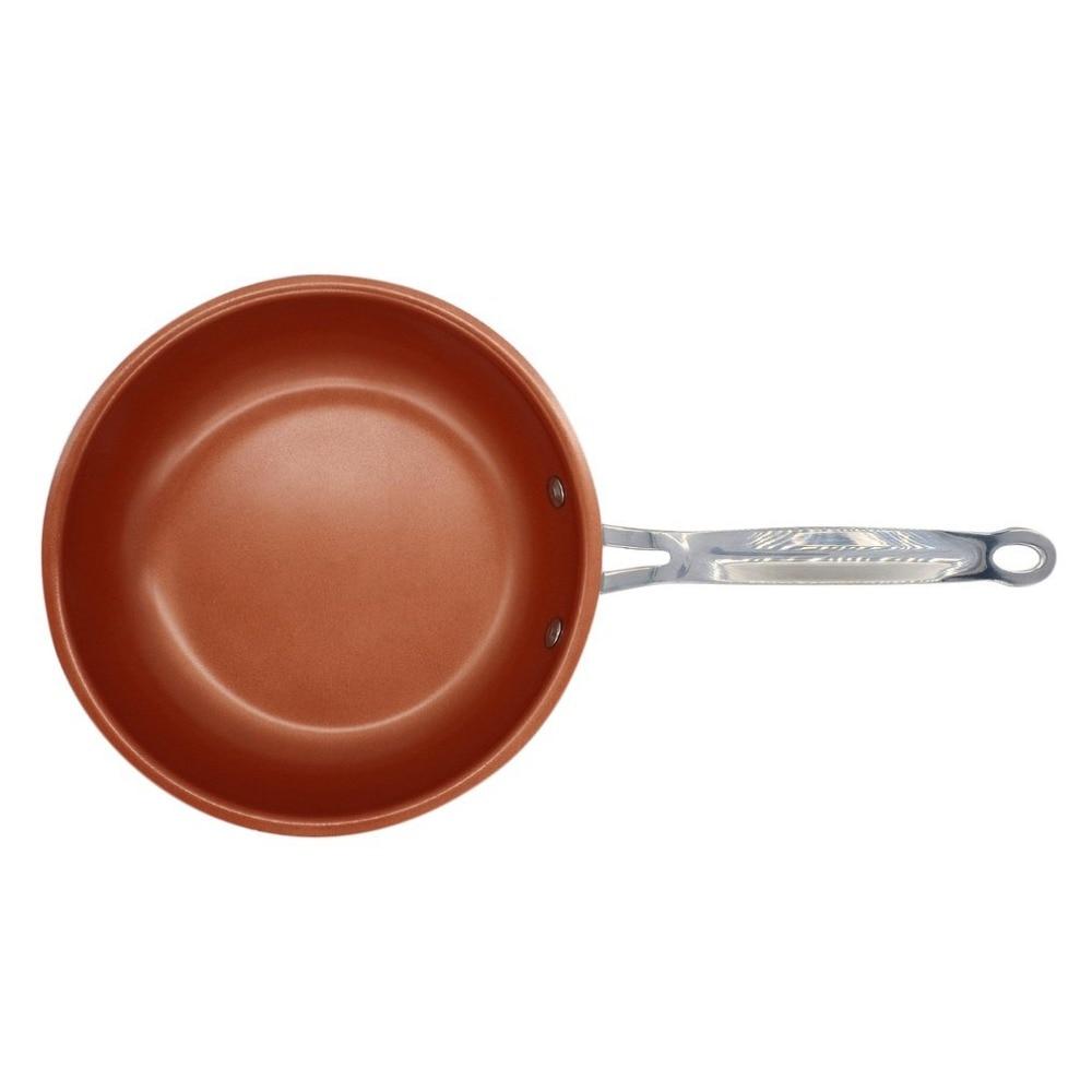 Non-bastone di Rame Padella con Rivestimento In Ceramica e Induzione di cottura, Forno e Lavastoviglie sicuro 20 cm