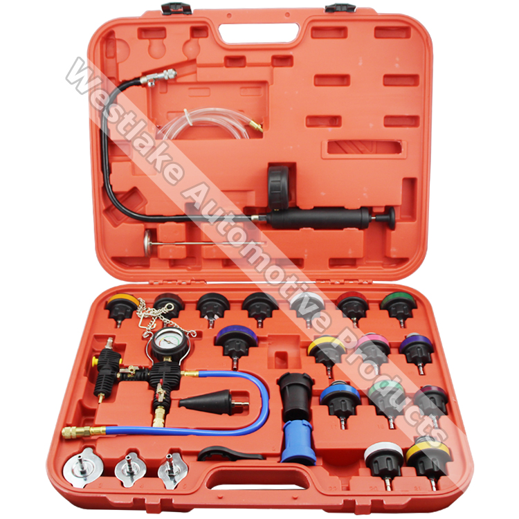 27pcs Universal Radiator Pressure Tester & Vacuum Type Coolling System Kit Collant Replace Tool Coolant Purge/Refill Adapter  цены