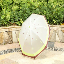 Creative Cute I Love Fruits Translucent EVA Straight Long-handle Umbrella Rain Women Kids Auto Launch Lucency Fresh