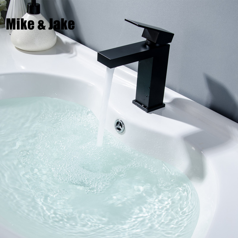 Black basin faucet bathroom single handle water tap black sink tap cold and hot mixer tap basin mixer CUPC proved tap MJ1105 xoxo modern bathroom products chrome finished hot and cold water basin faucet mixer single handle water tap 83007