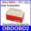 Новейшие Нитро OBD2 Дизель Чип-Тюнинг Box Подключи И Драйв NitroOBD2 OBDii Интерфейс Для Дизельного Автомобиля Больше Мощности/Более крутящий момент