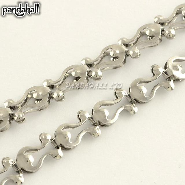 304 Stainless Steel Link Chains, Soldered, Stainless Steel Color, 10x6x3mm; about 20m/roll