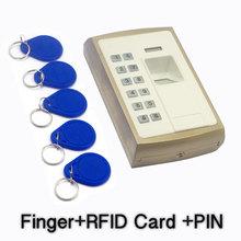 Metallic Casing Outdoor Thumb Access Control Fingerprint Door Access Device Biometric Register Keypad RFID Reader 1000Users cheap Realhelp 1 000 templates 10 000 100 000 electric lock exit button doorbell door sensor 12V DC -10 - 50degree 10 -90