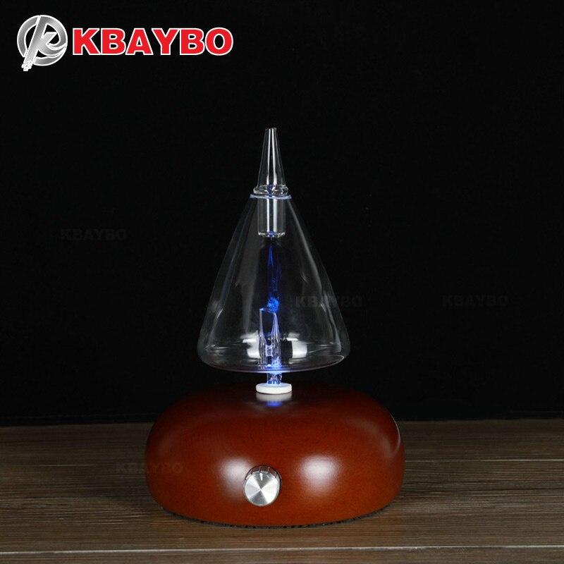 KBAYBO эфирное масло диффузоры Аромат очиститель дерева и стеклянный рассеиватель для ароматерапии fogger с 7 видов цветов светодио дный свет для...