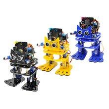 לelecrow מיקרו: קצת ריקוד לתכנות DIY רובוט דמוי אדם שני הגפיים סרוו רובוטים מיקרו קצת תכנות למידה ערכת לילדים