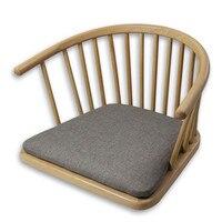 Ahşap Koltuk Hiçbir Bacak Doğal Bitirmek Japon Tarzı Modern Zemin Bacaksız Kol Sandalye Oturma Odası Mobilya Oyma Koltuk Tasarım