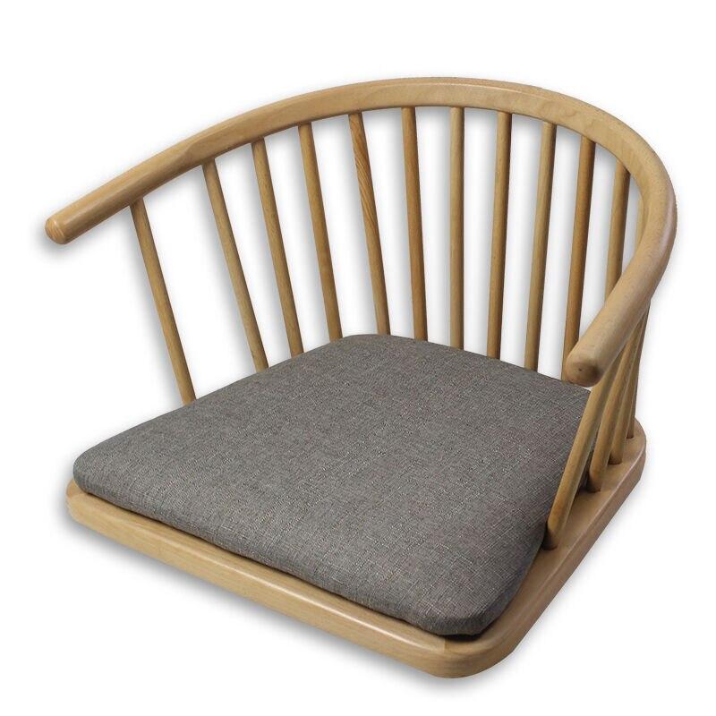 Wooden Armchair No Leg Natural Finish Japanese Style Modern Floor Legless Arm Chair Living Room Furniture Carved Armchair Design gramercy кресло severin armchair