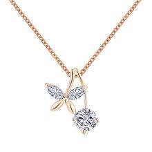 Lemon Value Bijoux Romantic Wedding Choker Luxury Crystal Butterfly Pendant Necklaces Fashion Zircon Women Jewelry Femme P054