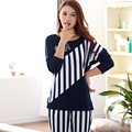 Mujer pijamas nueva Primavera y Otoño largo de la manga más el tamaño L-3XL cotton Loose Ocio de las mujeres pijamas homewear Del Equipamiento traje