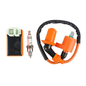 Image 5 - Motorbike Ingition Set 1pc Racing CDI + Spark Plug + Ignition Coil Kits For GY6 50/125/150CC 4 stroke Scooter Parts