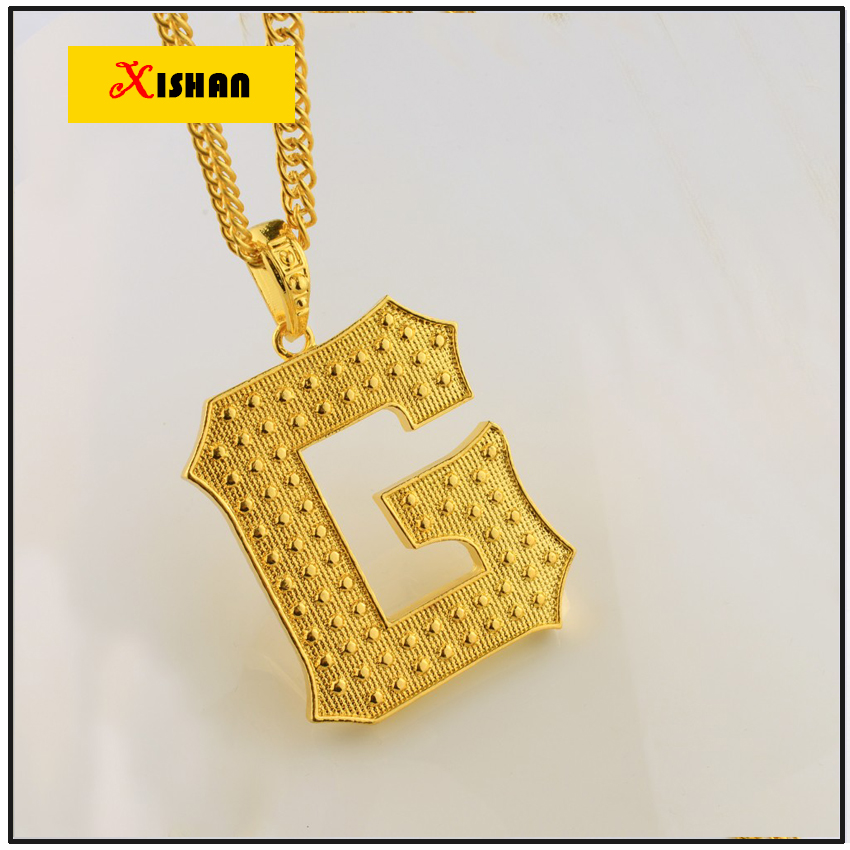 new arrival iced out gold color letter g pendant hip hop necklace for men women christmas and new year gift in pendants from jewelry accessories on