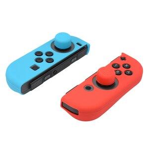 Image 4 - 10 шт., мягкий силиконовый чехол для геймпада + защитный чехол для консоли + ручки для джойстика, крышка для переключателя NY Joy con