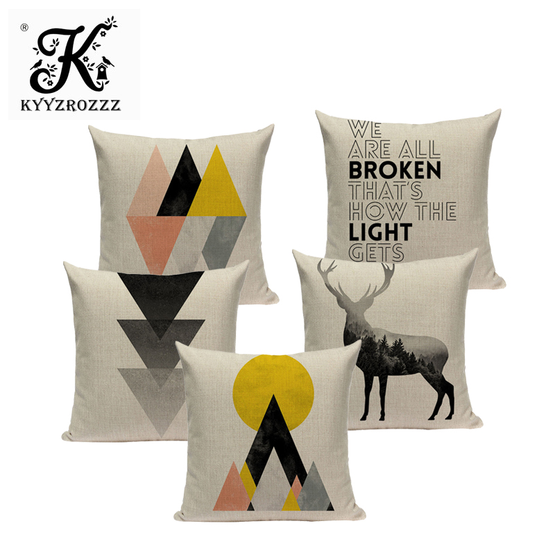 Geometry cushion cover cushions decorative Custom throw pillows Black and white simplicity home cushions Dropshipping cushion