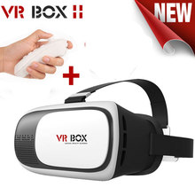 2016VR BOX 2.0 Version Google cardboard VR Virtual Reality 3D Glasses for 3.5″ – 6.0″ Smart Phone + bluetooth remote controller