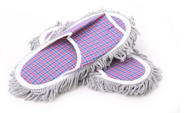 Hot New 1 pair Dust Mop Slippers Shoes Floor Cleaner Clean Easy 3pair/lot