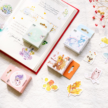 50pcs/box Kawaii Decorative Stickers Adhesive DIY Decoration Diary Stationery Children Gift School Supplies