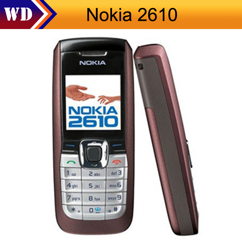 2610 unlocked original nokia 2610 mobile phone cheap refurbished gsm cellphone in stock free. Black Bedroom Furniture Sets. Home Design Ideas