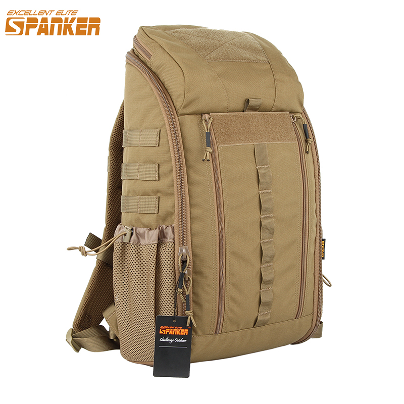 EXCELLENT ELITE SPANKER Outdoor MOLLE Men's Camo Backpacks Two-Way Zipper Nylon Backpack Hunting Waterproof First aid Backpack