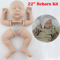 22inch high quality lifelike Reborn Baby Dolls Accessories closed eyes DIY Mold Kits Realistic Toys for DIY free shipping