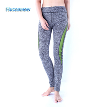 HUCOINHOW Brand Yoga Pants Hight Waist Elastic Tight Sports Leggings Women's Winter Warm Running Pants