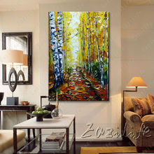 Hand painted Canvas Oil painting Wall Pictures for Living room wall decor art canvas painting palette knife landscape 12