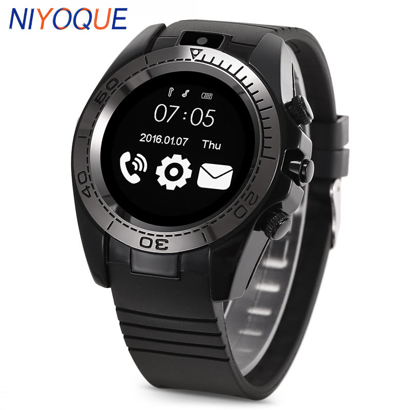 NIYOQUE SW007 Clock Phone Sim Smartwatch Phone Mens Sport Smart Camera Watch Wearable Devices Support Android IOS TF Card 2G умные часы smart watch y1