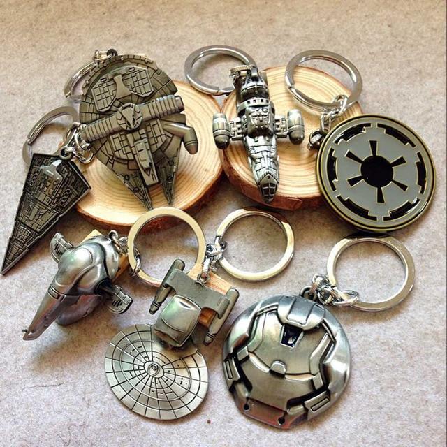 Star Wars Millennium Falcon Spaceship Keychain (9 Styles)
