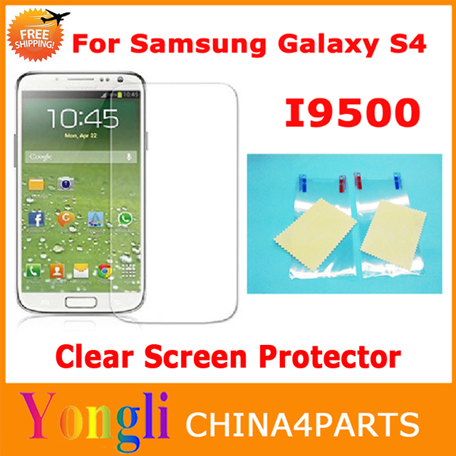 1000pcs/lot Factory Supplier In stock for Samsung Galaxy S4 i9500 clear Screen Protector Without Retail Package free shipping