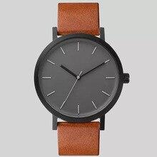 Finda 2017 Unisex Watches Business Simple Stylish PU Leather Strap Quartz Watch Men Women Fashion Wristwatches Relogio Masculino
