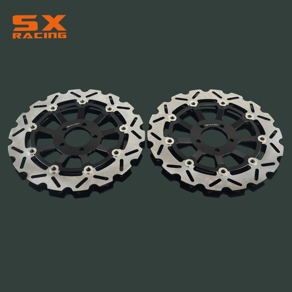 Motorcycle 310mm Front Floating Brake Disc Rotor 2 PCS For KAWASAKI ZXR L1-L5 ZXR NINJA 750CC ZX9R NINJA ZEPHYR 1100CC ZR 1100