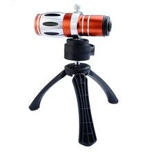 3in1 Комплекты 17x Высокого класса Оптический Зум Телефото Объектива Телескопа Для Samsung iPhone С Треногой Мобильных Телефонов Случаях Камеры линзы Комплект