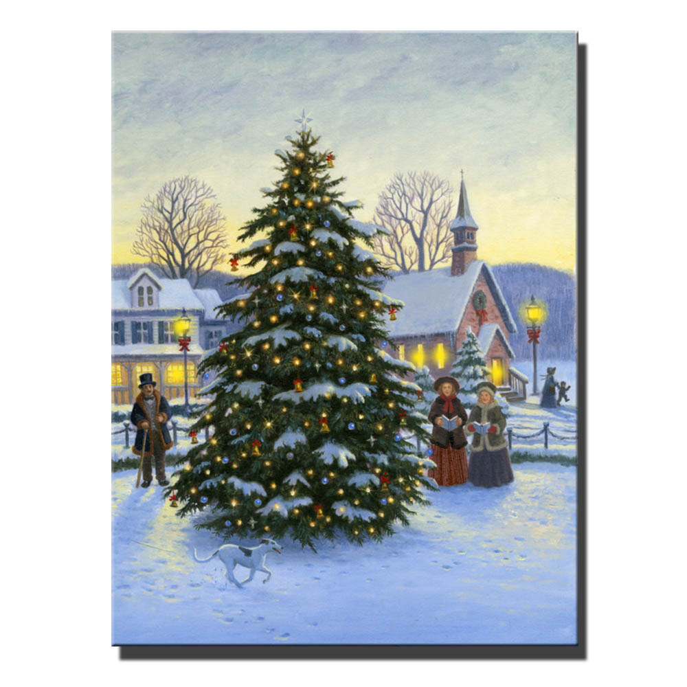 Canvas Wall Art With Led Lighted Up Family Merry Christmas